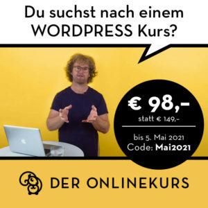WordPress Der Onlinekurs Wien