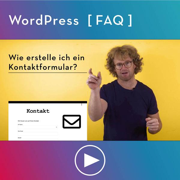 FAQ-WordPress-Infos-Wie-erstelle-ich-ein-Kontaktformular