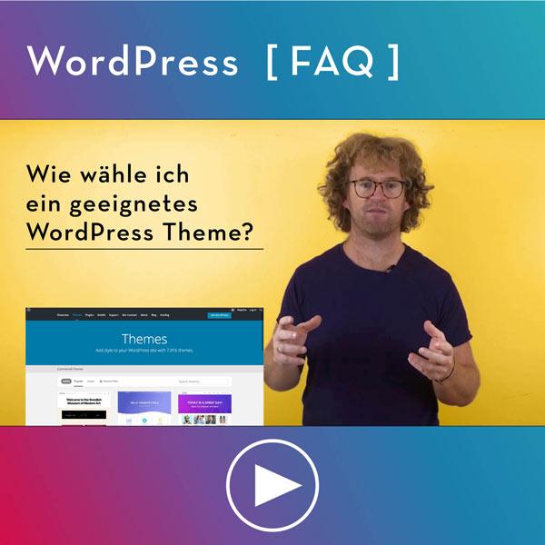 FAQ-WordPress-Infos-Wie-geeignetes-WordPress-Theme-waehlen