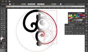 Logo erstellen am Computer: Sie sehen einen Screenshot einer Logo-Vorlage in Photoshop.