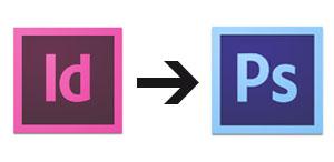 Ein InDesign Dokument in ein Photoshopdokument verwandeln.