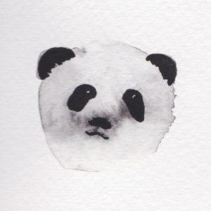 Panda Aquarell Grafik