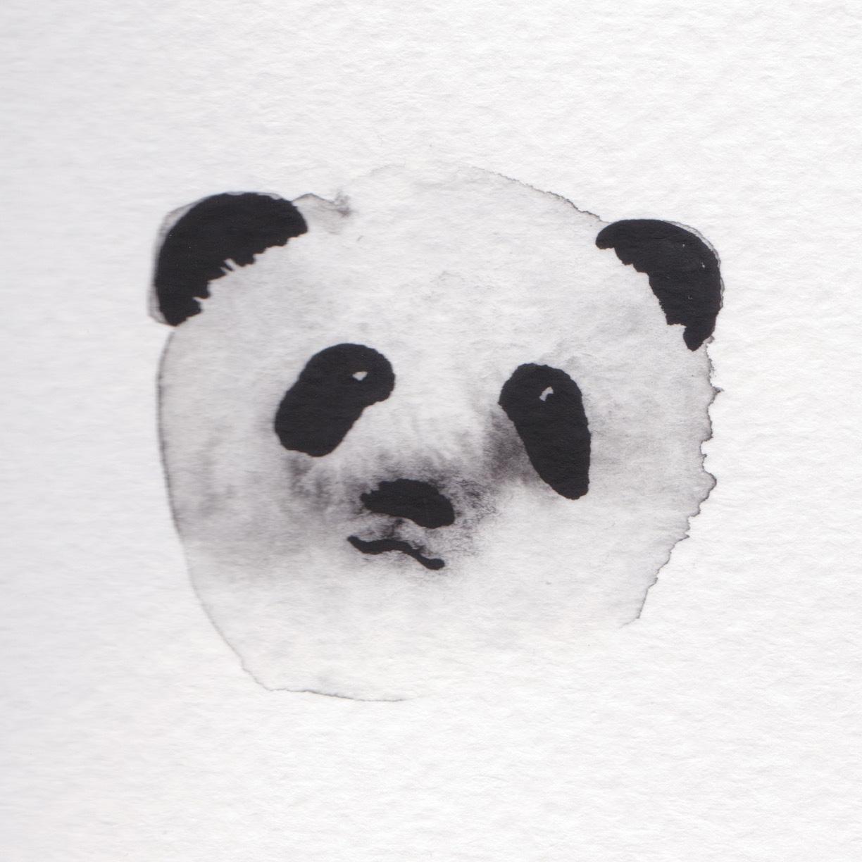 Aquarell Pandabär
