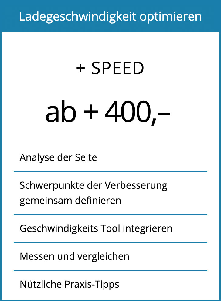 WordPress Geschwindigkeit optimieren; Analyse der Website