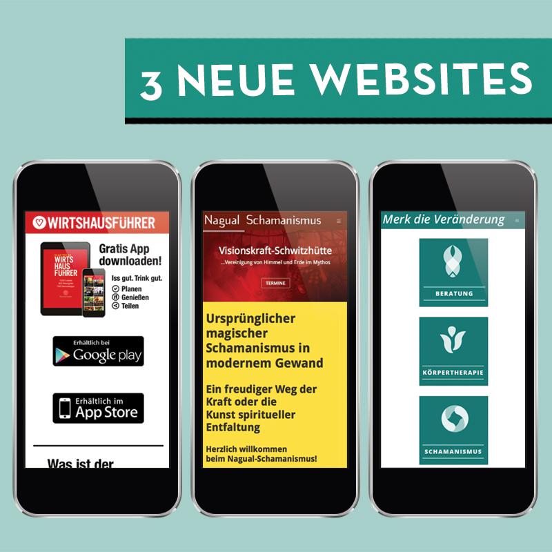 neues design für 3 homepages