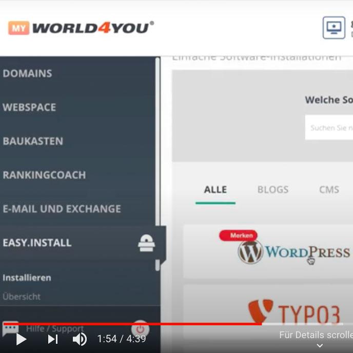 WordPress-Insallation-World4you