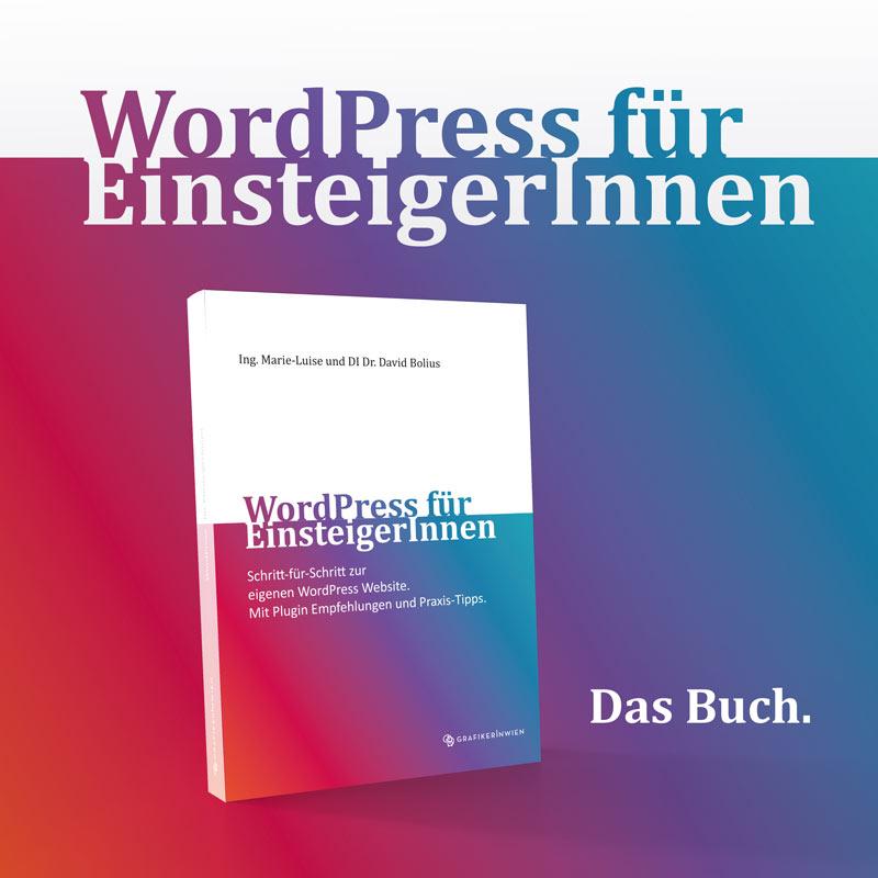 WordPress Buch 2021 von Marie-Luise und David Bolius - erhöhen deine WordPress Kenntnisse