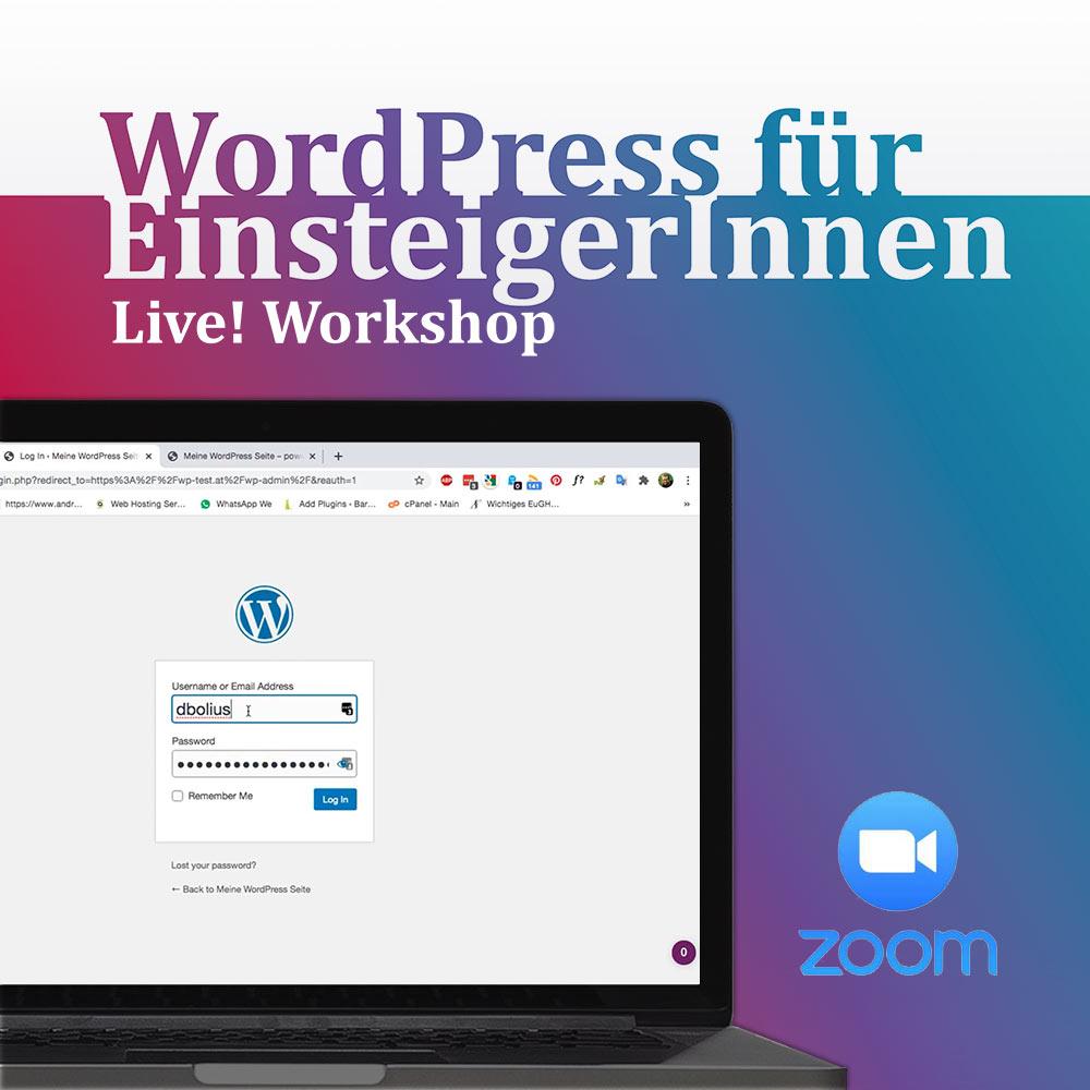 WordPress Kenntnisse in im Workshops per zoom erwerben