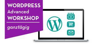 Beispiel für die Ankündigung eines WordPress Advanced Workshops von Grafiker in Wien