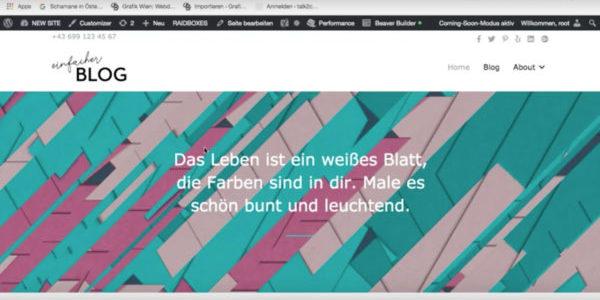 Website-Header-bearbeiten