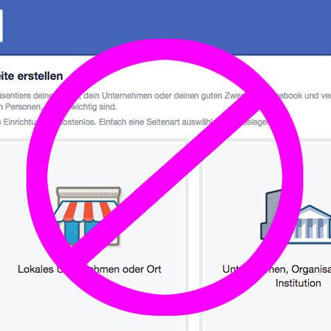 Keine Facebook Fanpage mehr