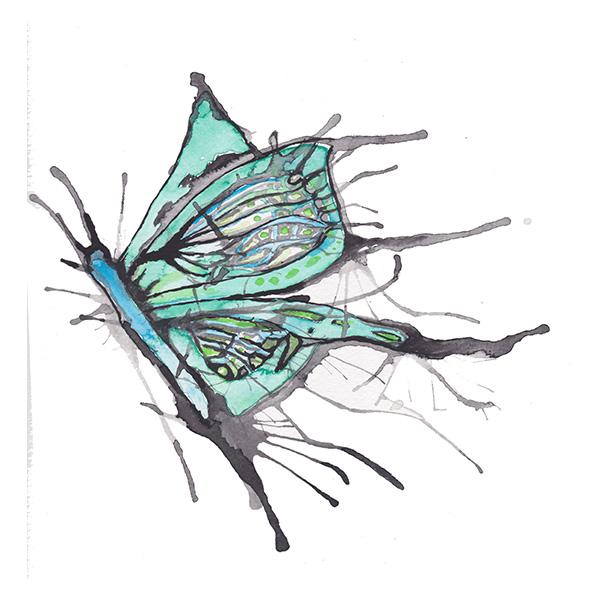 Schmetterling Aquarell